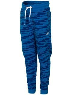 Sweatpants for small boys JSPMD117 - blue
