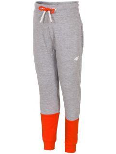 Sweatpants for small boys JSPMD115 - light gray