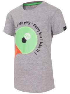 T-shirt for small boys JTSM123 - light grey melange