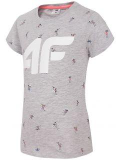 T-shirt for small girls jtsd107 - grey melange