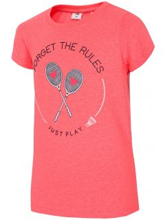 T-shirt for small girls JTSD109 - red neon