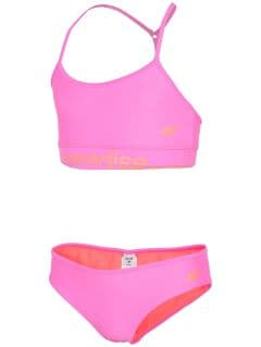 Swimsuit for big girls jkos211 - coral neon
