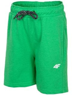 Knit shorts for small boys jskmd106 - neon green