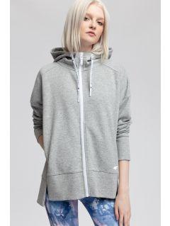 Women's hoodie BLD400 - light grey  melange