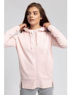 Women's hoodie BLD400 - powder coral melange