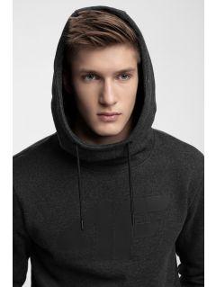 Men's hoodie BLM301 - dark grey melange