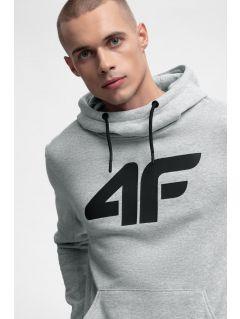 Men's hoodie BLM301 - grey melange