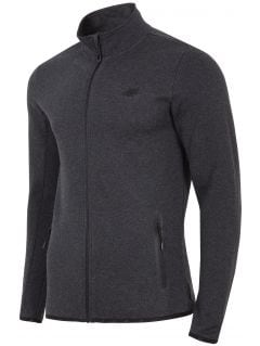 Men's sweatshirt BLM302 - dark grey melange