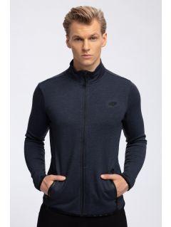 Men's sweatshirt BLM302 - denim melange