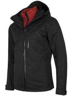 Men's trekking 3in1 jacket KUMT200R - black