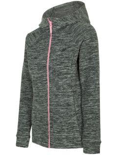 Women's fleece hoodie PLD302 - dark grey melange