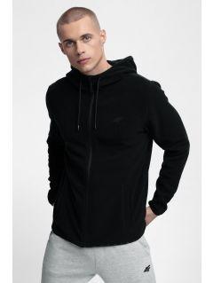Men's fleece hoodie PLM302 - deep black