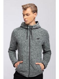 Men's fleece hoodie PLM302 - medium grey melange