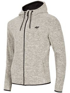 Men's fleece hoodie PLM302 - light grey melange