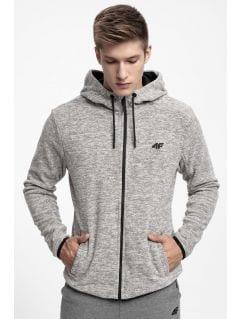 Men's fleece hoodie PLM302 - ligh grey melange