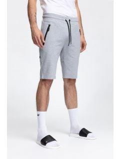 Men's knit shorts SKMD200 - light grey melange