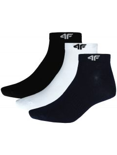 Men's socks (3 pairs) SOM301 - black + navy + white