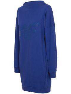 Women's knit dress SUDD210 - cobalt blue