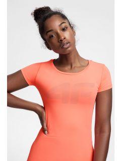 Women's active T-shirt TSDF107 - coral pink neon
