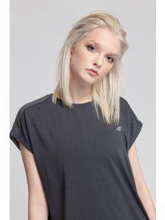 Women's active T-shirt TSDF207 - dark grey melange