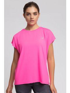 Women's active T-shirt TSDF207 - pink neon