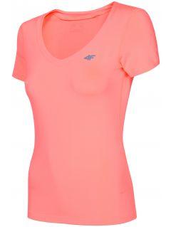 Women's active T-shirt TSDF300 - salmon pink neon