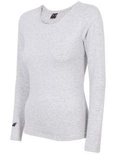 Women's long sleeve T-shirt TSDL300 - light grey melange