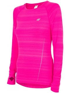 Women's active long sleeve T-shirt TSDLF300 - pink melange