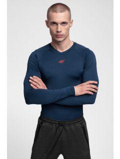 Men's active long sleeve T-shirt TSMLF300 - navy melange