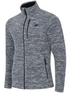 Men's fleece sweatshirt PLM001 - dark grey melange