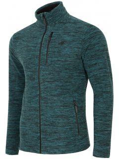 Men's fleece sweatshirt PLM001 - sea green melange