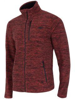 Men's fleece sweatshirt PLM001 - red melange