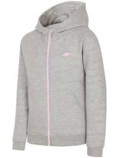 Sweatshirt for older children (girls) JBLD203 - light grey melange