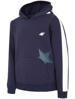 Hoodie for older children (girls) JBLD212 - dark navy