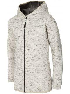 Hoodie for older children (girls) JBLD400 - light grey melange