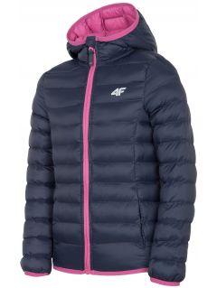 Down jacket for older children (girls) JKUDP206 - navy