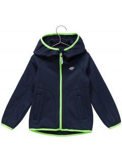 Fleece hoodie for younger children (boys) JPLM101 - navy