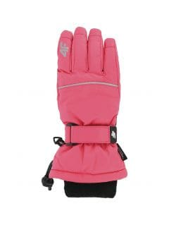 Ski gloves for older children (girls) JRED402 - fuchsia