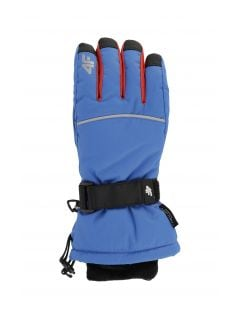 Ski gloves for older children (boys) JREM401 - cobalt blue