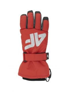 Ski gloves for older children (boys) JREM404 - red