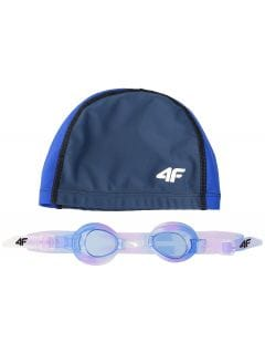Swimming cap + goggles for older children (girls) JSETD400 -
