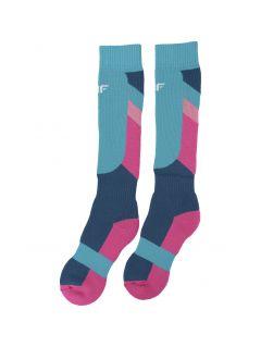 Ski socks for older children (girls) JSODN400 - multicolor
