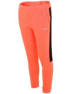 Sweatpants for older children (girls) JSPDD203 - orange