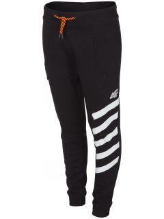 Sweatpants for older children (girls) JSPDD204 - dark grey