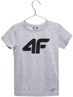 T-shirt for younger children (boys) JTSM100a - light grey melange