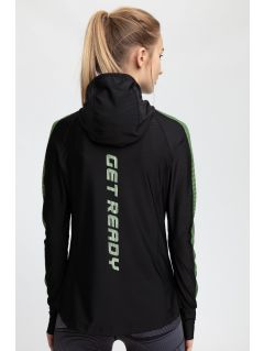 Women's active hoodie BLDF200 - black