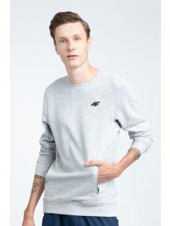 Men's sweatshirt BLM001 - light grey melange