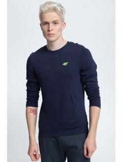 Men's sweatshirt BLM001- dark navy melange