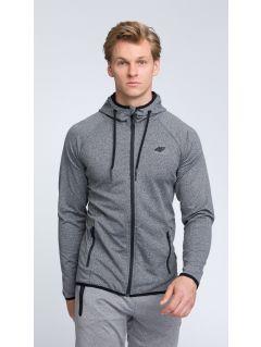 Men's hoodie blm004 - dark gray melange