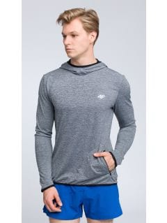 Men's active hoodie BLMF003 - light grey
